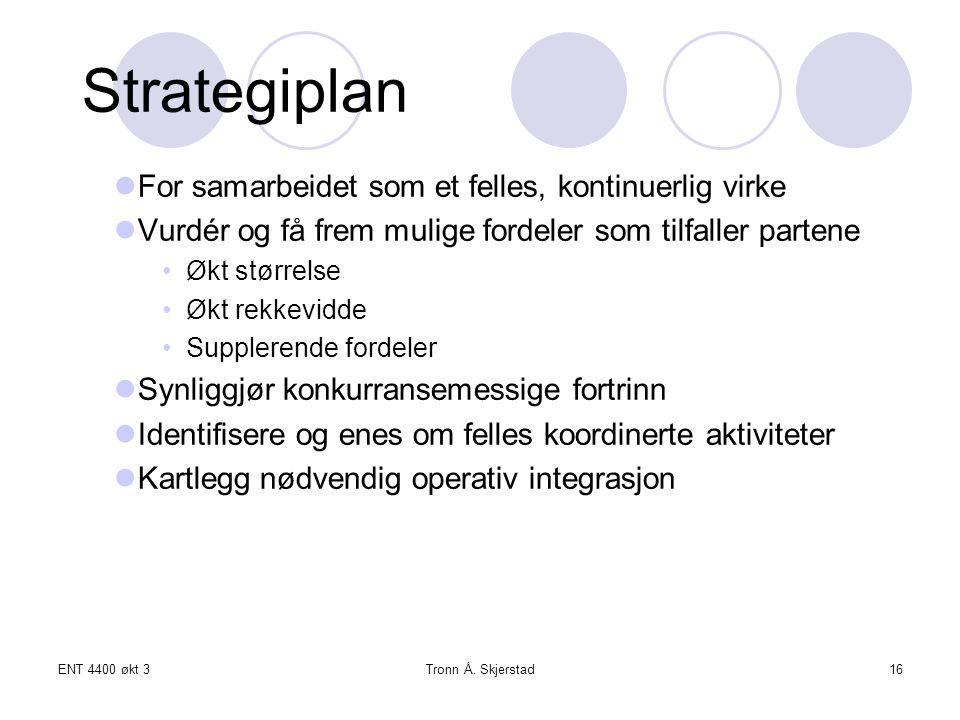 Strategiplan For samarbeidet som et felles, kontinuerlig virke