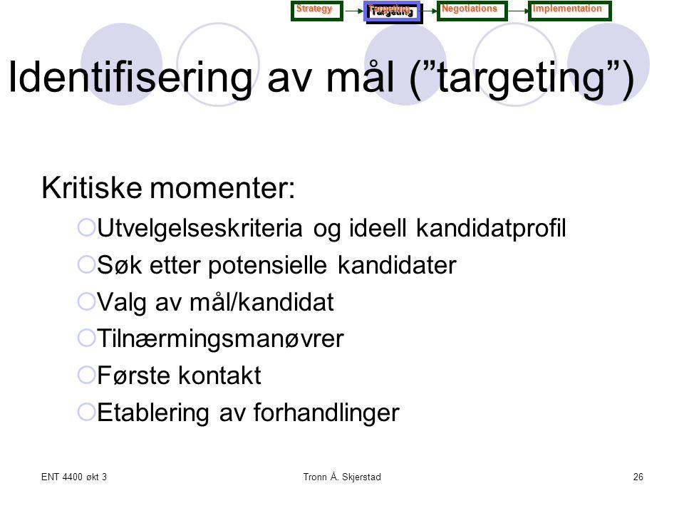 Identifisering av mål ( targeting )