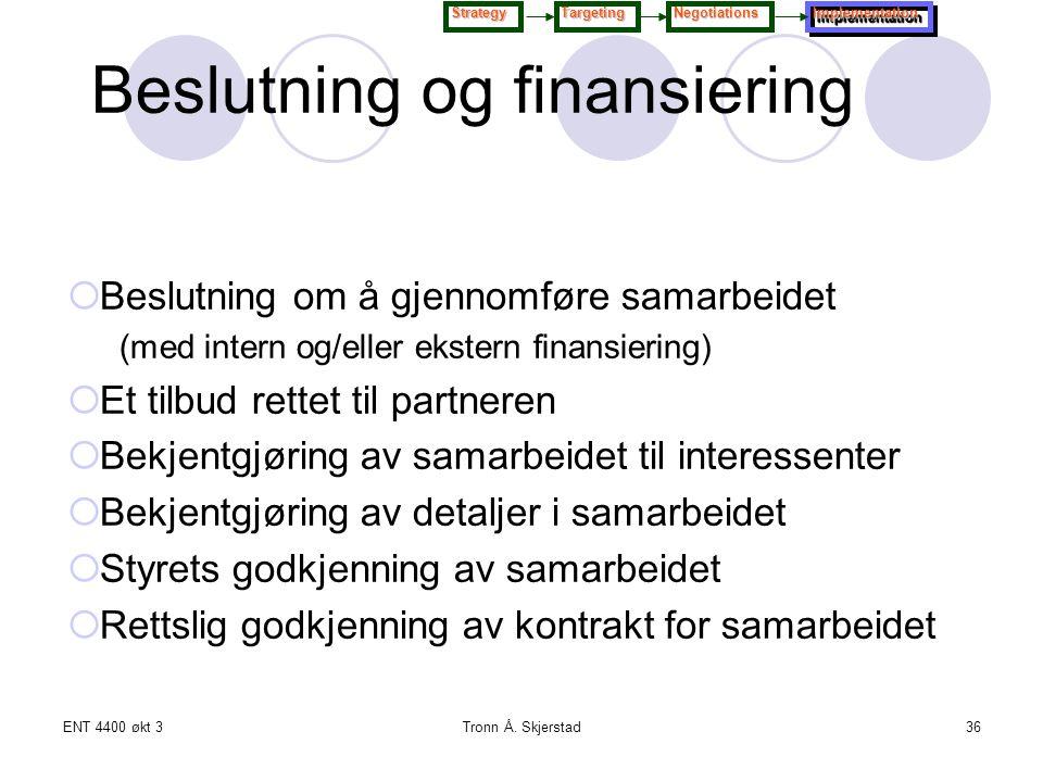 Beslutning og finansiering