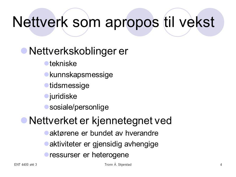 Nettverk som apropos til vekst