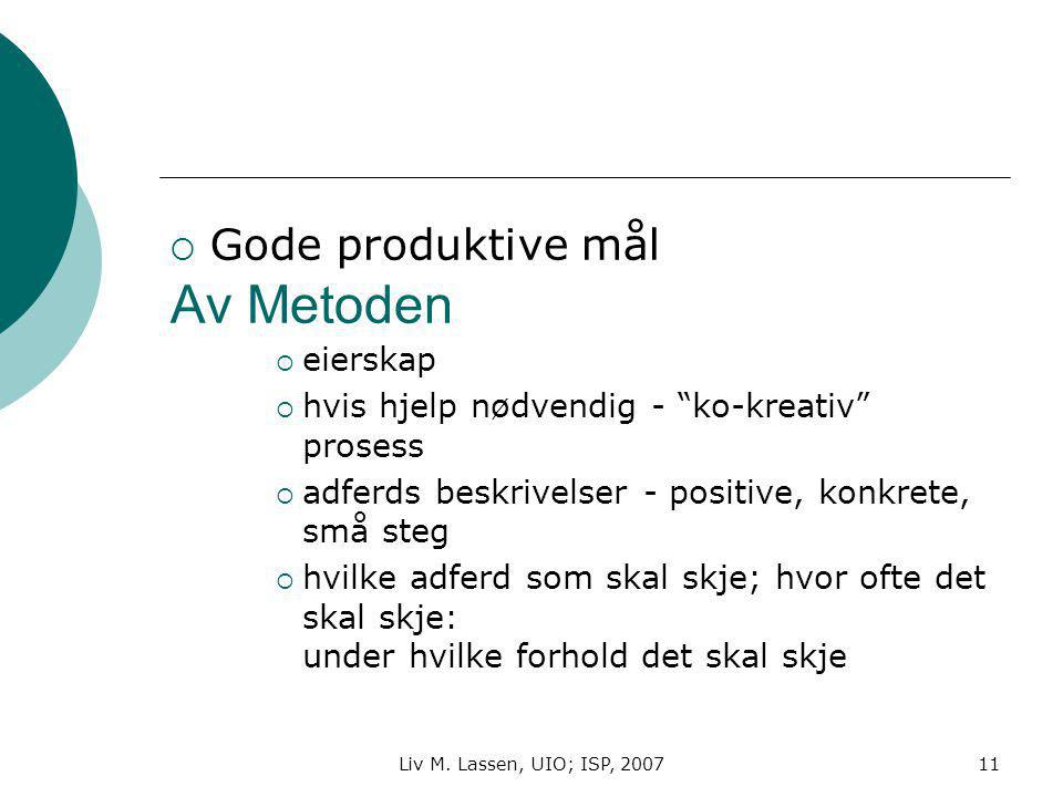 Av Metoden Gode produktive mål eierskap