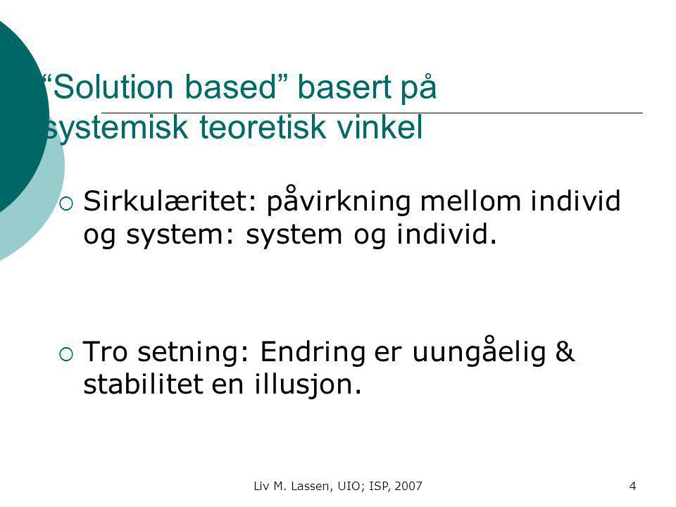 Solution based basert på systemisk teoretisk vinkel
