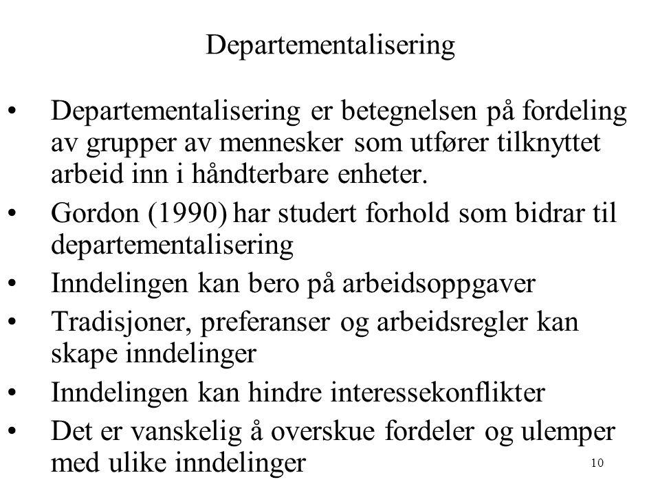 Departementalisering