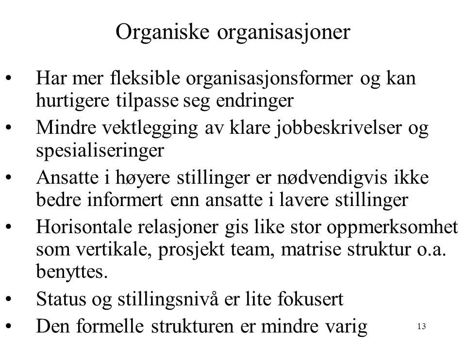 Organiske organisasjoner