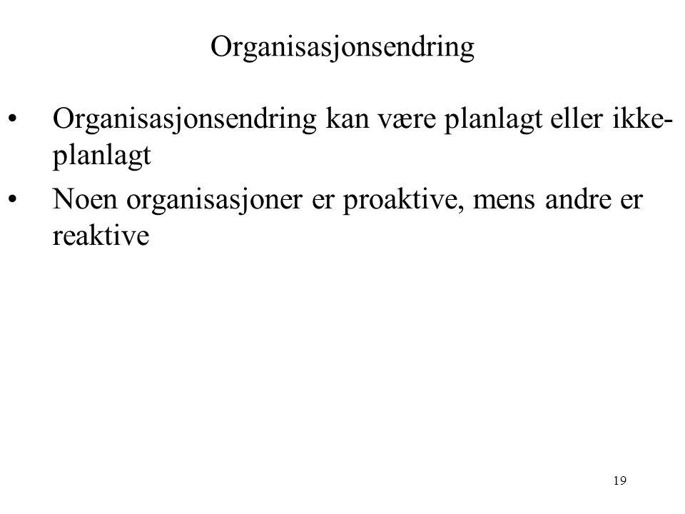 Organisasjonsendring