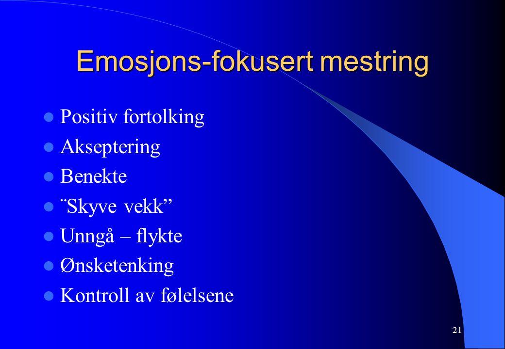 Emosjons-fokusert mestring