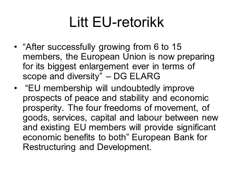 Litt EU-retorikk