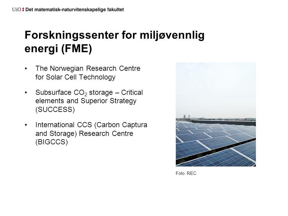 Forskningssenter for miljøvennlig energi (FME)