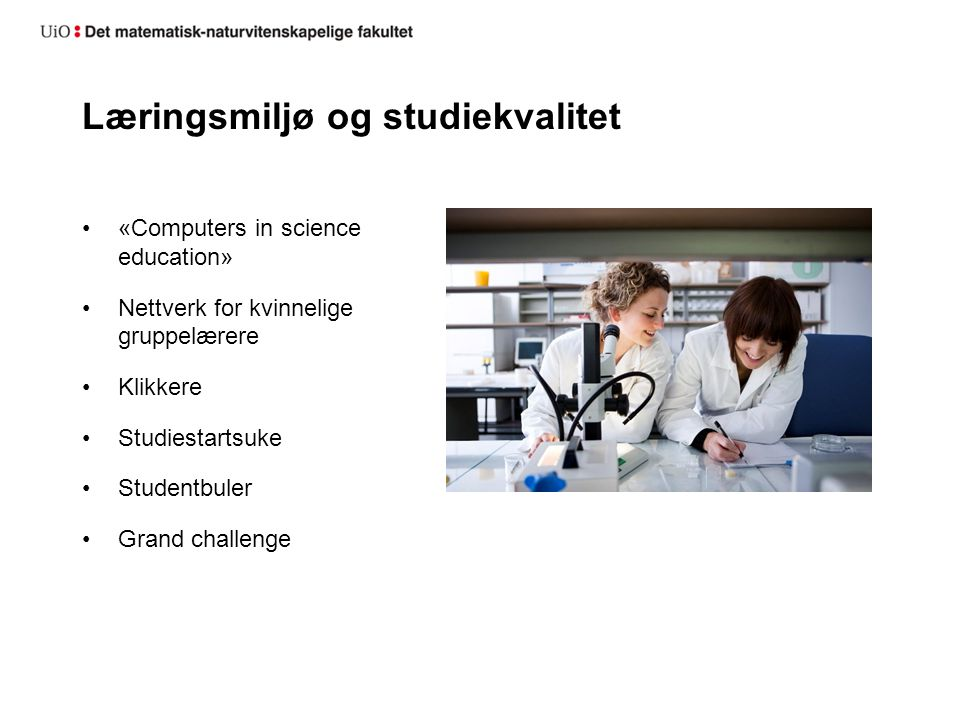 Læringsmiljø og studiekvalitet