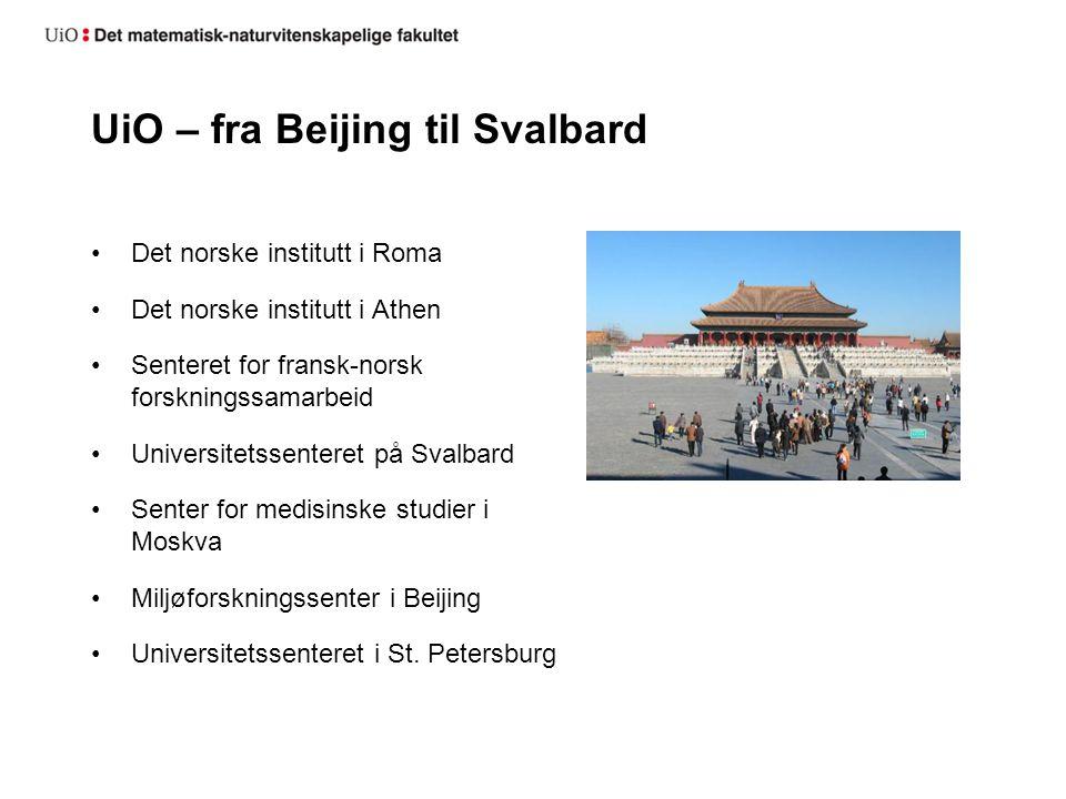 UiO – fra Beijing til Svalbard