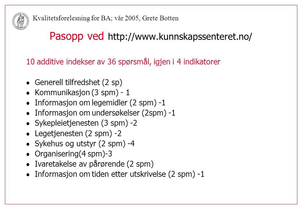 Pasopp ved http://www.kunnskapssenteret.no/