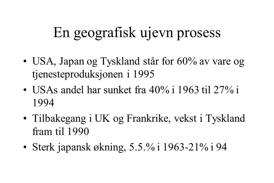 En geografisk ujevn prosess
