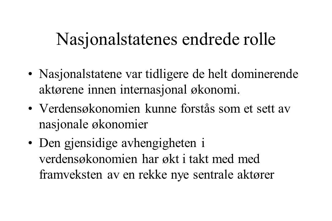 Nasjonalstatenes endrede rolle