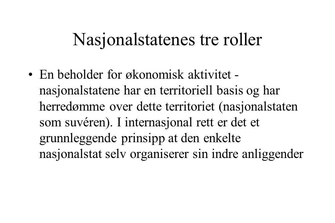 Nasjonalstatenes tre roller