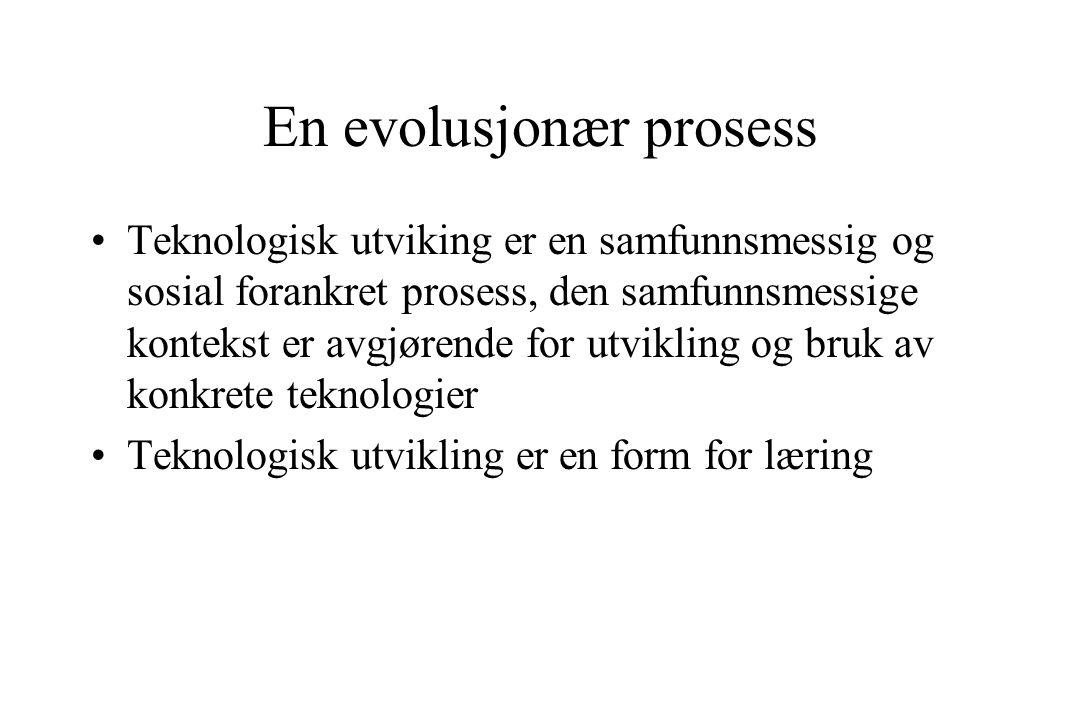 En evolusjonær prosess