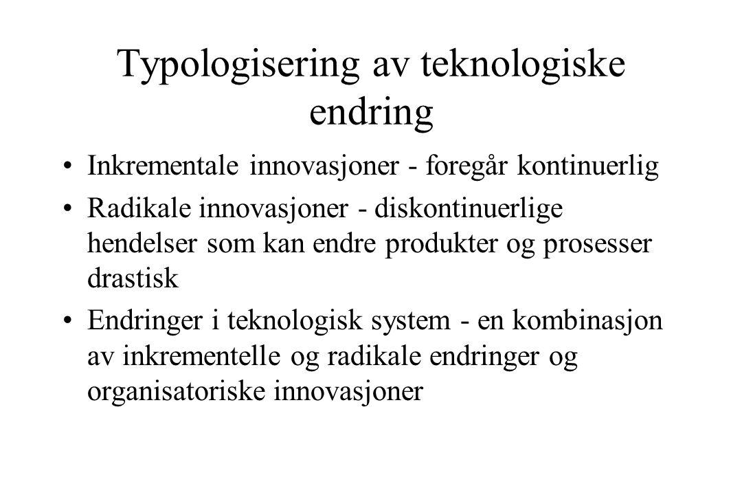 Typologisering av teknologiske endring