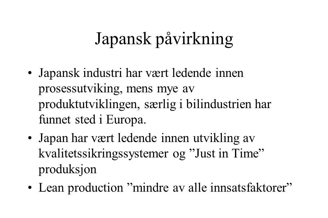 Japansk påvirkning