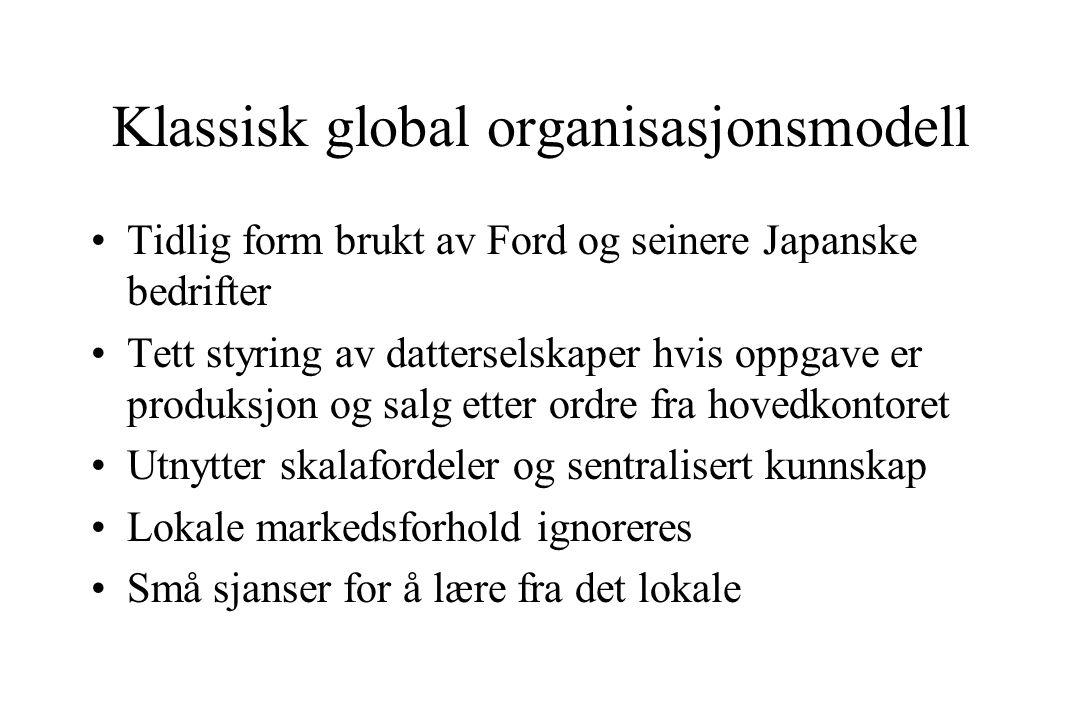 Klassisk global organisasjonsmodell