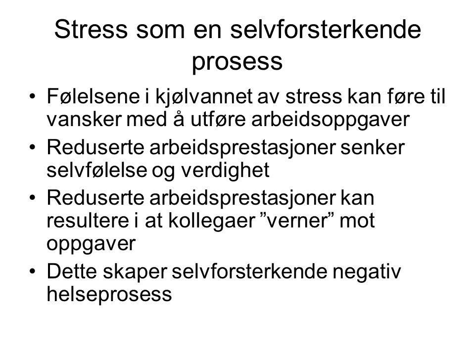 Stress som en selvforsterkende prosess