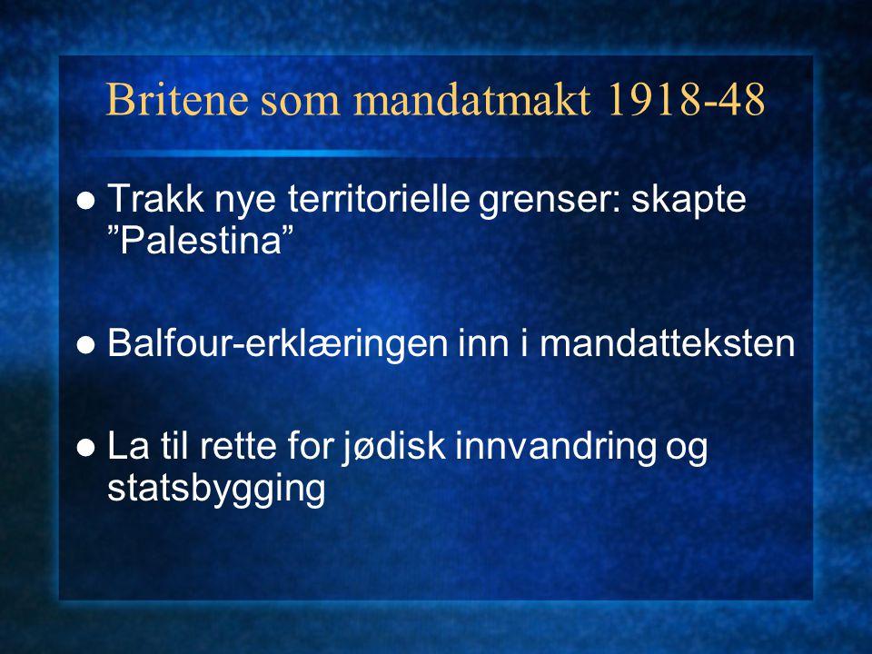 Britene som mandatmakt 1918-48