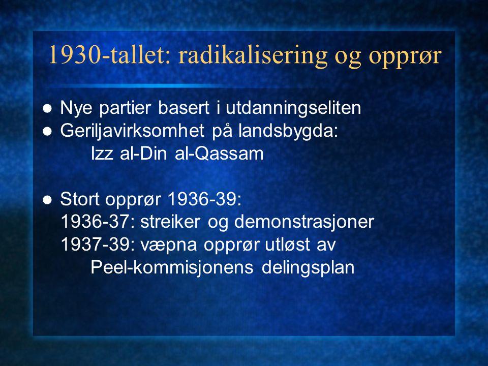 1930-tallet: radikalisering og opprør