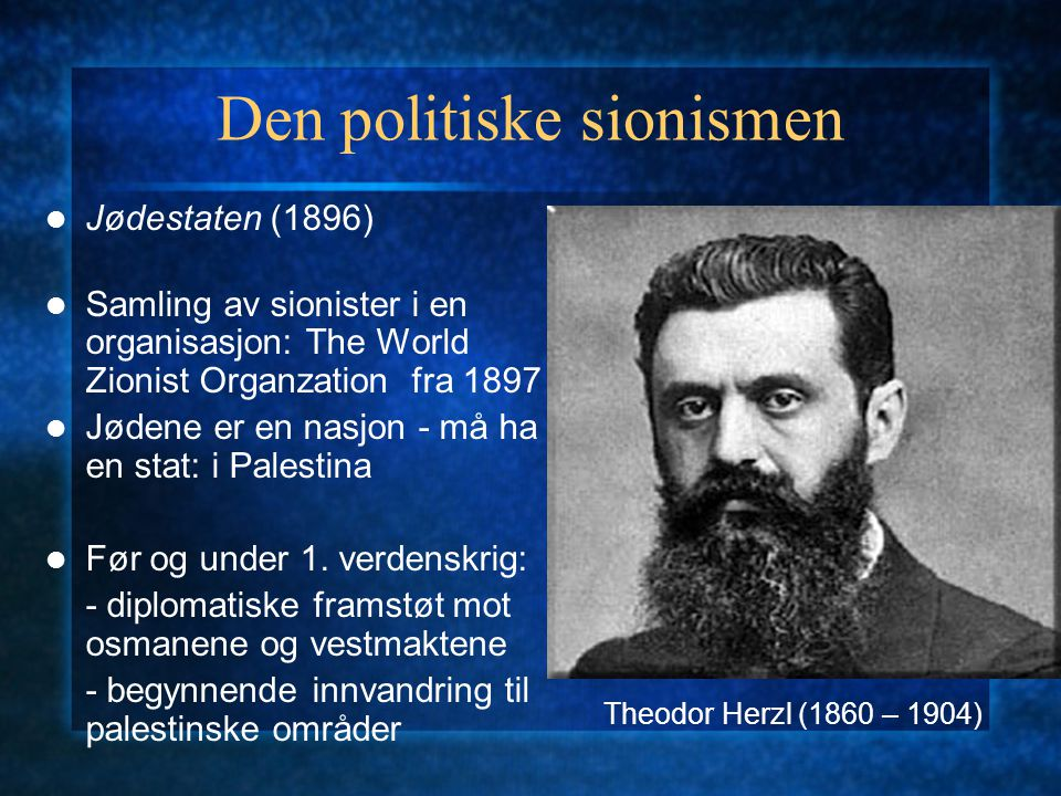 Den politiske sionismen