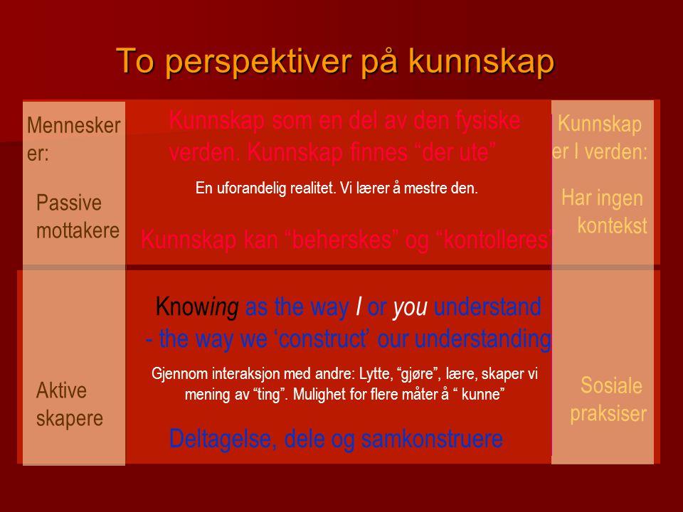 To perspektiver på kunnskap