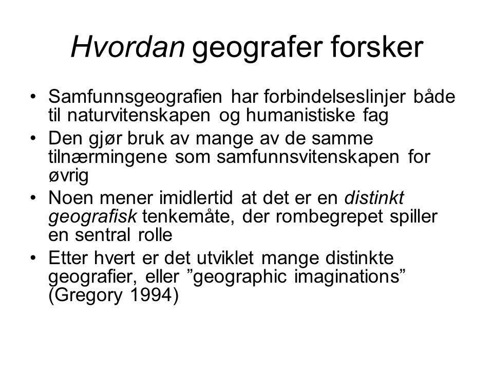 Hvordan geografer forsker