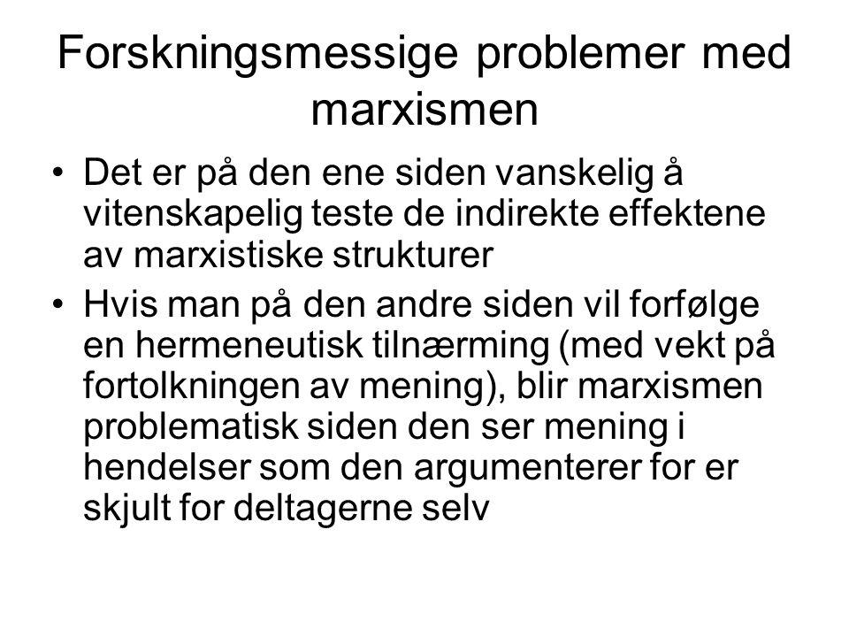 Forskningsmessige problemer med marxismen