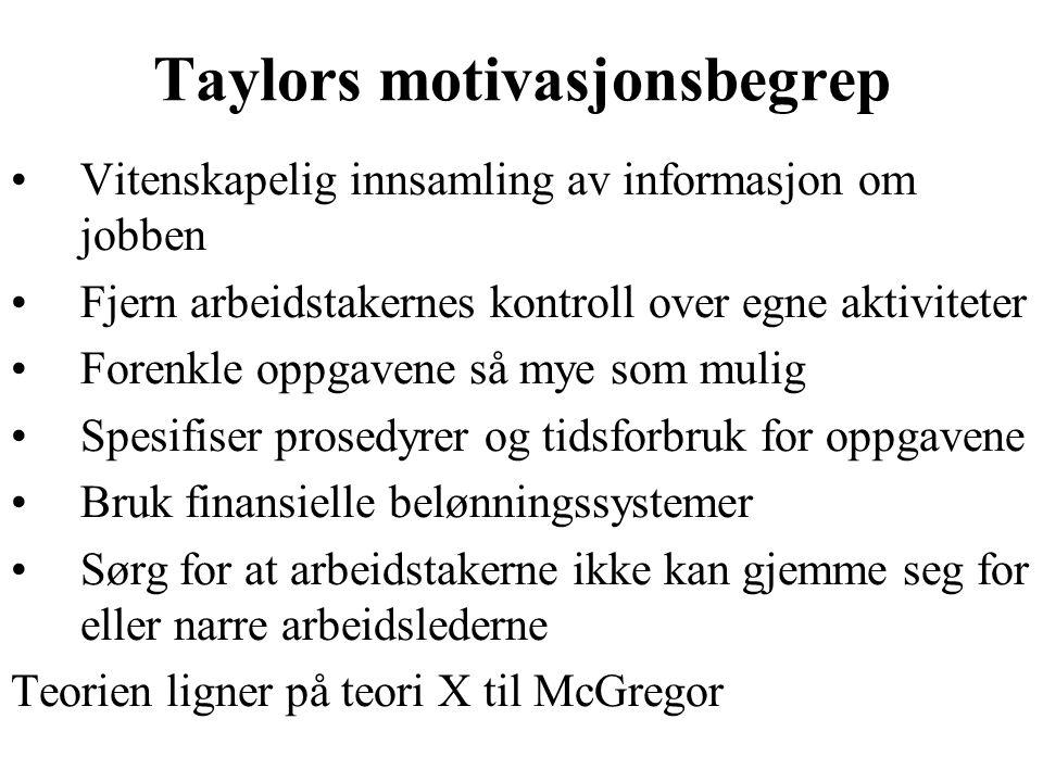 Taylors motivasjonsbegrep
