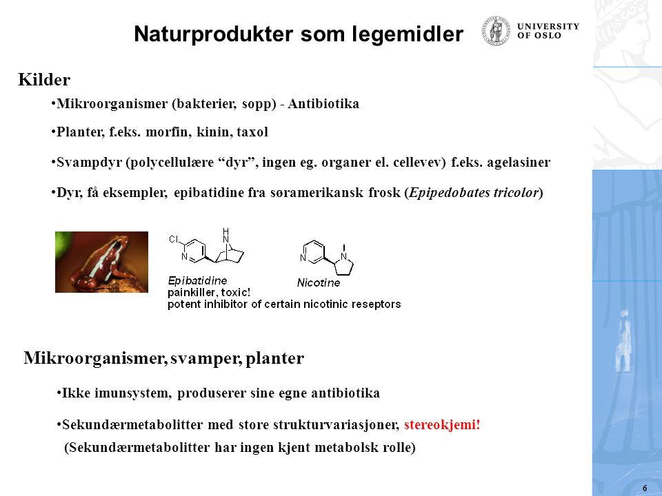 Naturprodukter som legemidler