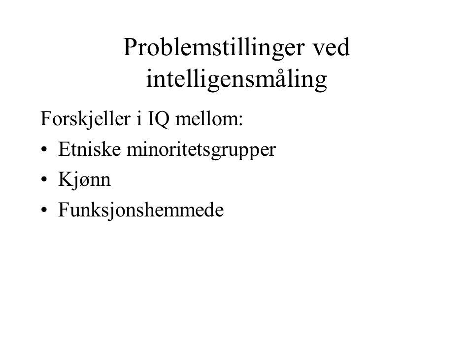 Problemstillinger ved intelligensmåling