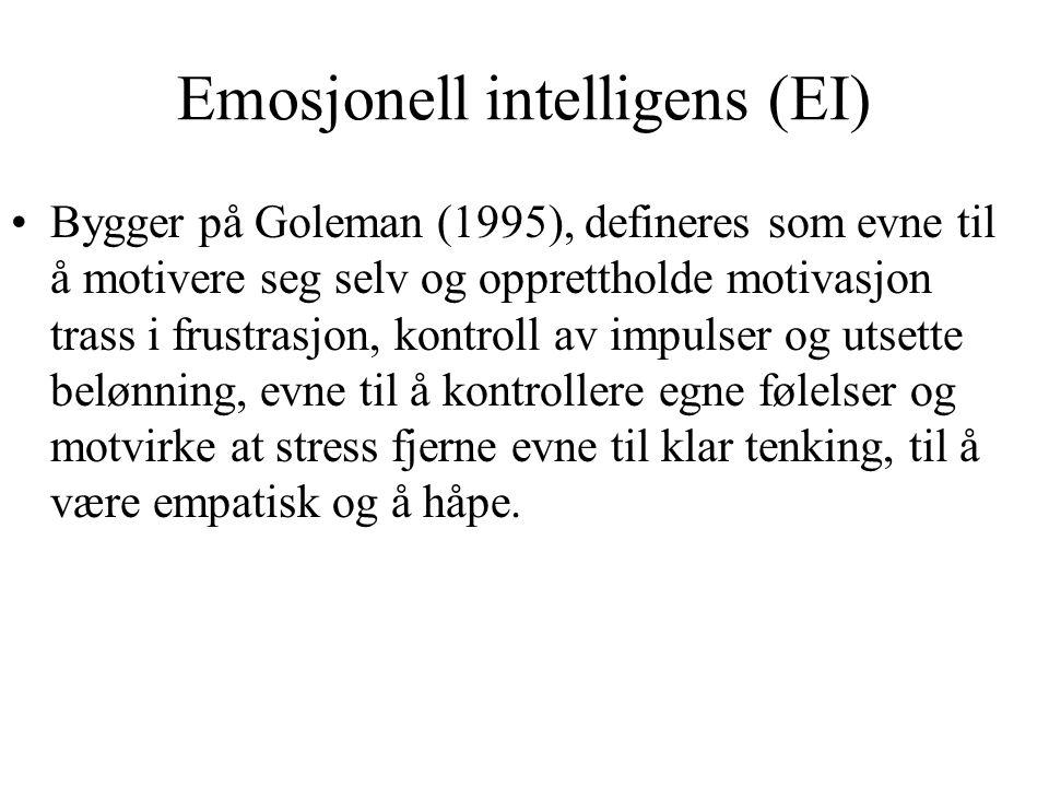 Emosjonell intelligens (EI)