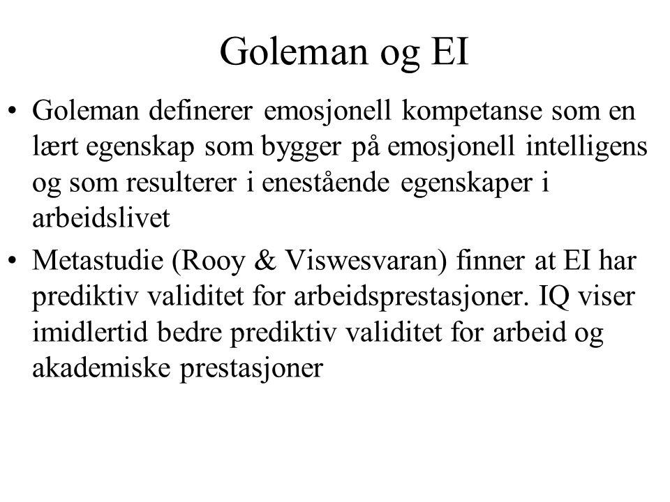 Goleman og EI