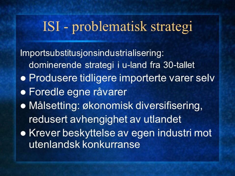 ISI - problematisk strategi
