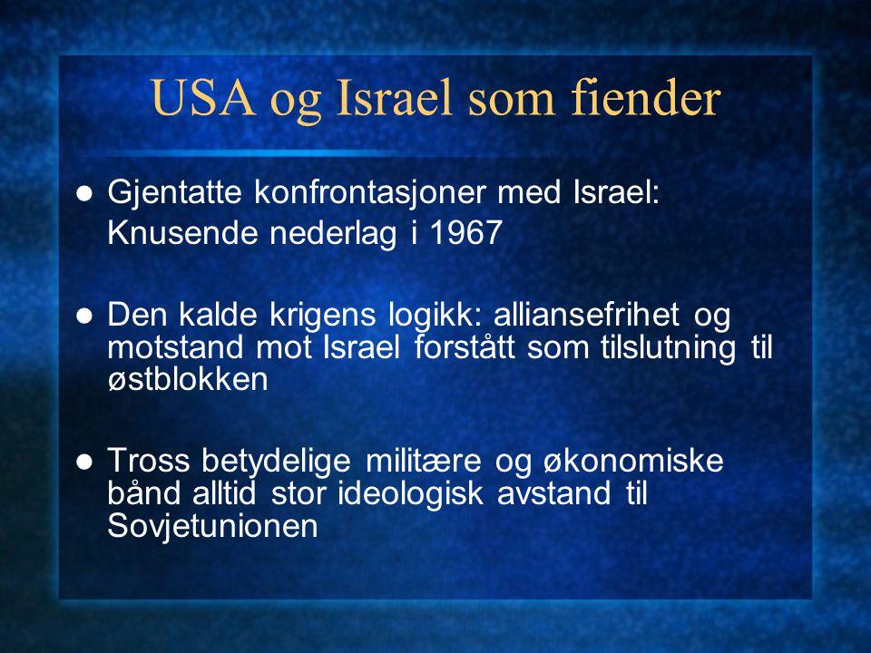 USA og Israel som fiender
