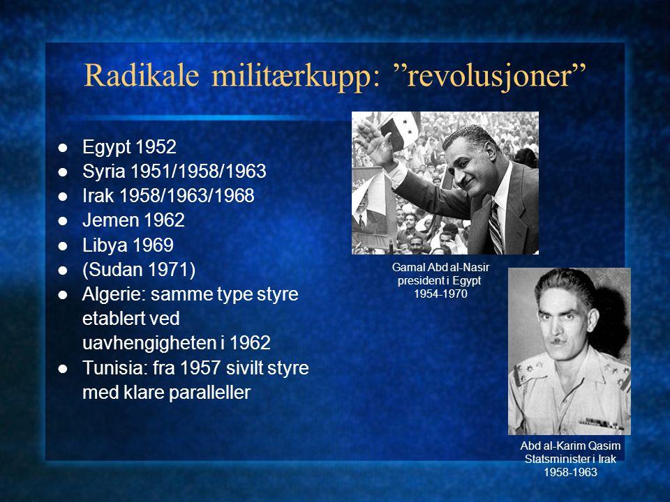 Radikale militærkupp: revolusjoner