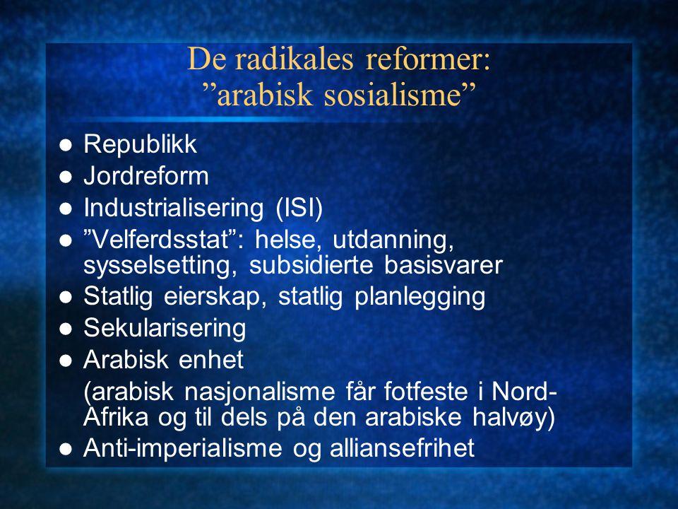 De radikales reformer: arabisk sosialisme