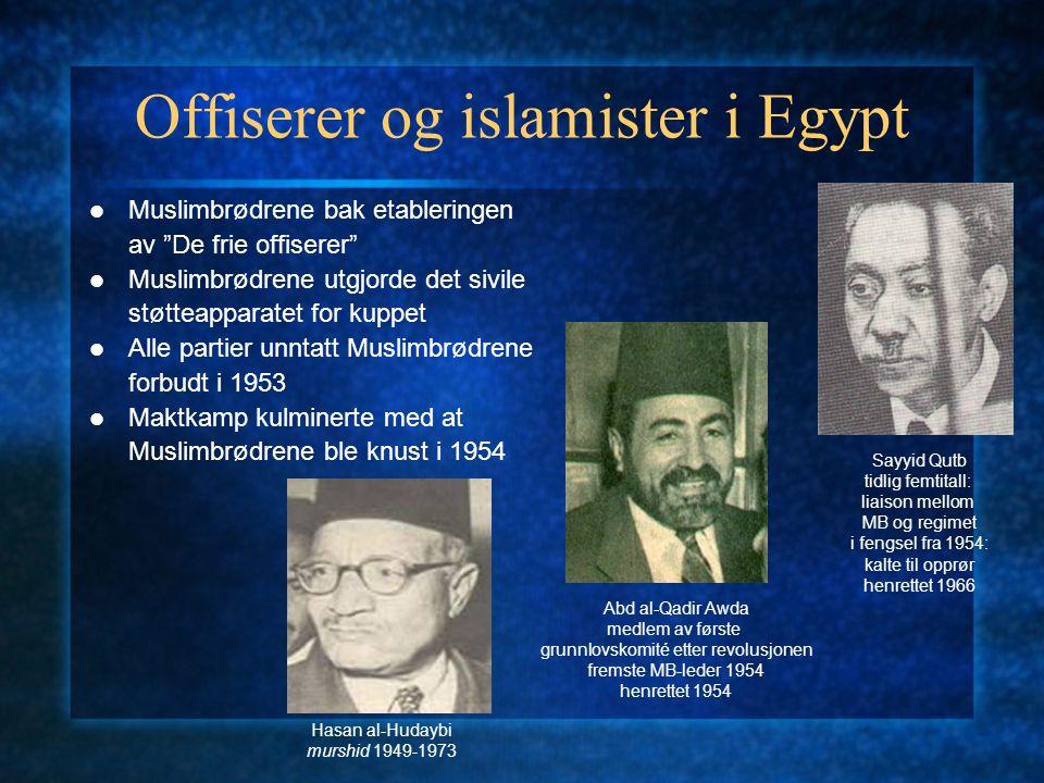 Offiserer og islamister i Egypt