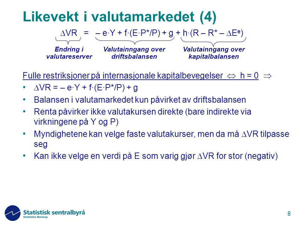 Likevekt i valutamarkedet (4)