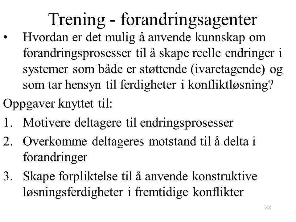Trening - forandringsagenter