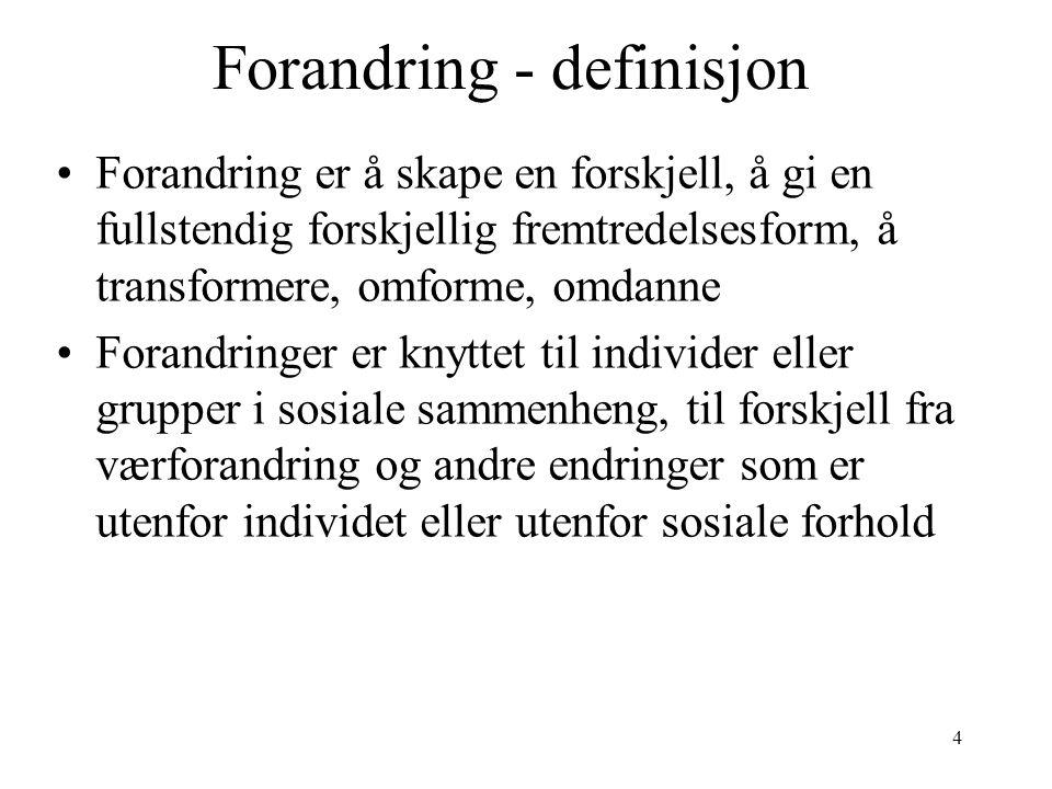 Forandring - definisjon