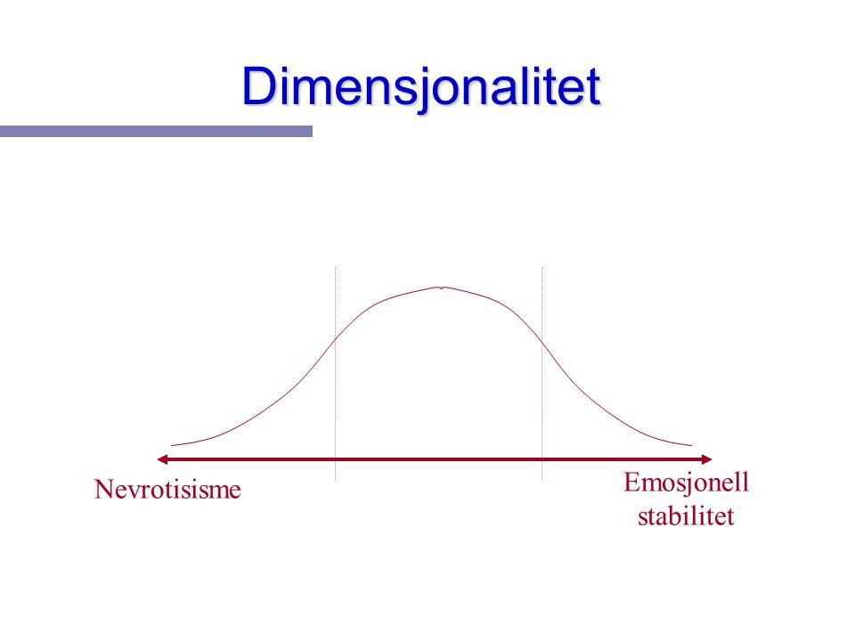 Dimensjonalitet Emosjonell stabilitet Nevrotisisme