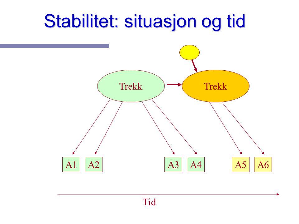 Stabilitet: situasjon og tid