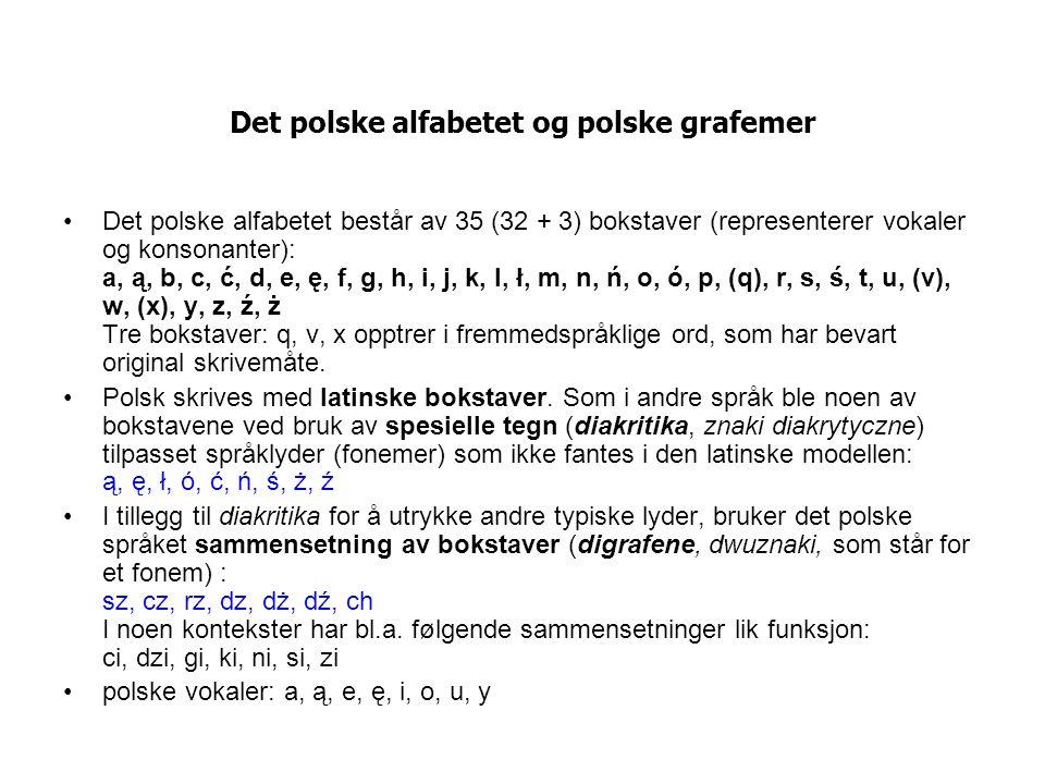 Det polske alfabetet og polske grafemer
