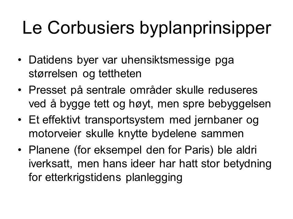 Le Corbusiers byplanprinsipper