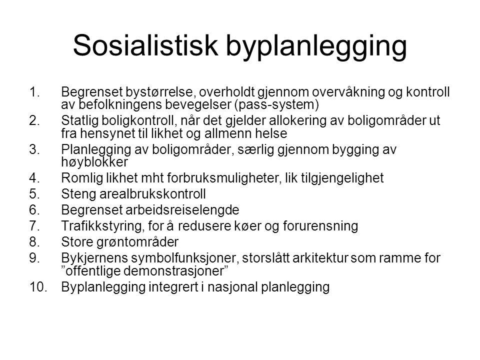 Sosialistisk byplanlegging