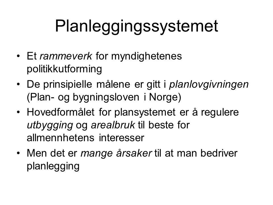 Planleggingssystemet