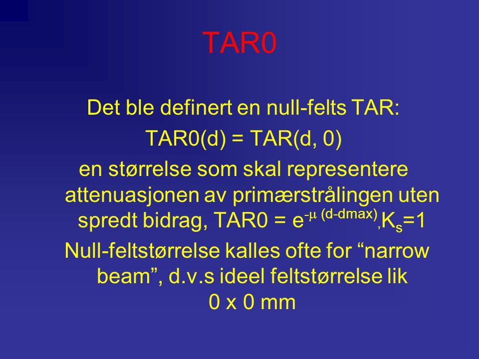 Det ble definert en null-felts TAR: