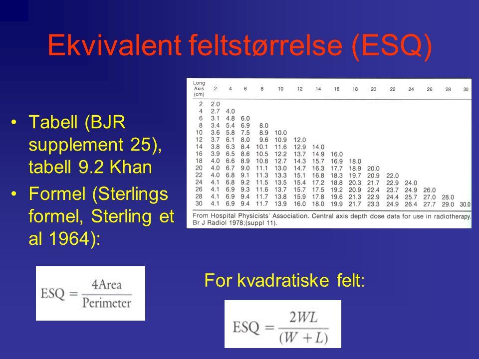 Ekvivalent feltstørrelse (ESQ)